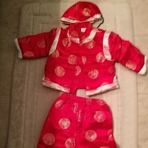 Other - Chinese new year boy outfit tang suits set of 3